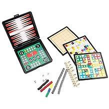 [12 in 1][1-4 player] Magnetic Game Travel Set Boards,Chinese Checkers / Reversi / Sho-gi / Backgammon / Gomoku-Narabe / 7 lines Go Game / Nip