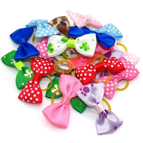 FidgetGear 20/200pcs Cute Small Dog Cat Puppy Hair Bows Accessories Wedding Grooming Yorkie Mixed Colors 200pcs One Size by FidgetGear