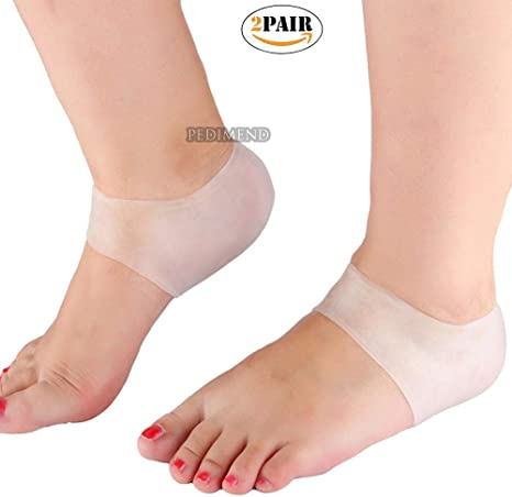 4 PCS Silicone Gel Heel Protector Plantar Fasciitis Pain Relief Cushion Unisex