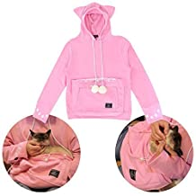 Rare! Only 222 pcs offered by the manufacturer! Mewgaroo Hoodie Pink Limited Quantity Cat Shaped Sweat with Ears UPA-32M-PK L Size ï¼»Japan Importï¼½ (M, Pink) by UNIHABITAT