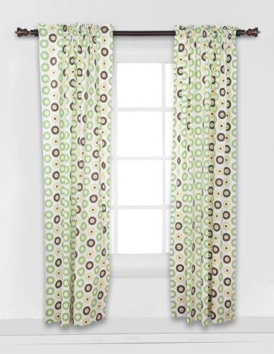 Mod Dots/Stripes Green/yellow/choco Dots Curtain - Stripe Curtain Shower 3
