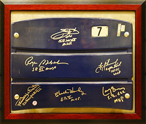 (Dallas Cowboys Super Bowl MVP's Signed and Framed Texas Stadium Seat Back)