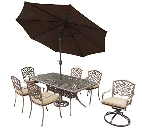 Oakland Living Mississippi 9-Piece Set with 70 by 38-Feet...