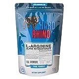 Hard Rhino L-Arginine Alpha Ketoglutarate (AAKG) Powder, 500 Grams (1.1 Lbs), Unflavored, Lab-Tested, Scoop Included
