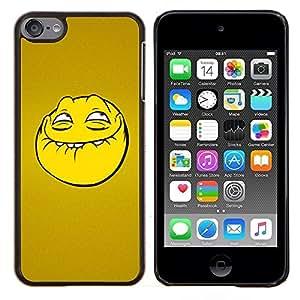TECHCASE---Cubierta de la caja de protección para la piel dura ** Apple iPod Touch 6 6th Touch6 ** --Troll cara sonriente