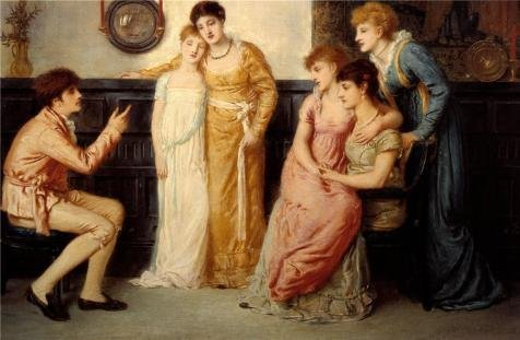 Oil Painting 'Simeon Solomon – A Youth Relating Tales To Ladies,1870' Printing On Perfect Effect Canvas , 18×28 Inch / 46×70 Cm ,the Best Gym Artwork …