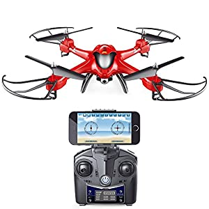 Holy Stone HS200 RC Drone with FPV HD Wifi Camera Live Feed 2.4GHz 4CH 6-Axis Gyro Quadcopter with Altitude Hold, Gravity Sensor and Headless Mode RTF Helicopter by Holy Stone