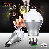 Motion Sensor Light Bulb 9W E27 Smart PIR LED Bulbs Auto On/Off Night Lights for Stairs Garage Corridor Walkway Yard Hallway Patio Carport (Cold White)