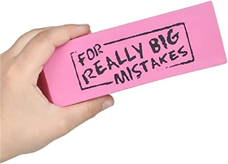 "Dozen Jumbo ""For Real Big Mistakes"" Erasers: Amazon.ca: generic"