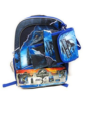 Kids Jurassic World Backpack, Lunchbox, Cinch Sack, Pencil Case & Water Bottle ()