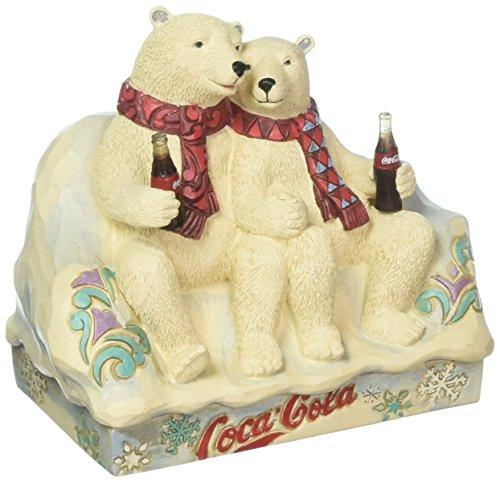 (Enesco Coca-Cola by Jim Shore 4059475 Coke Polar Bear Couple Figurine)