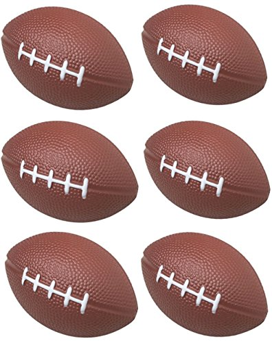 GIFTEXPRESS 1 Dozen Foam Mini Football Stress Balls, Mini Sport Balls, Superbowl Decoration Party Favor, Football Themed Party Supplies and Giveaways (Football) ()