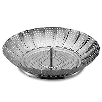 High Quality Stainless Steel Collapsible Vegetable Steamer 12 Inch