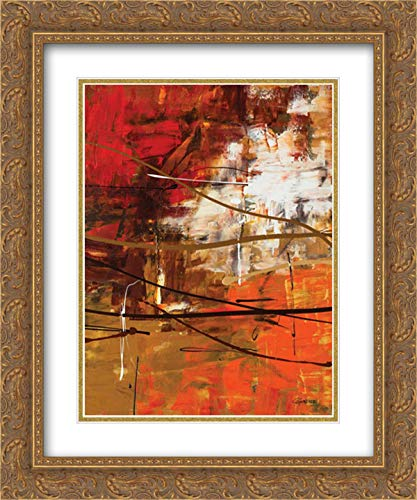 Funtastic II 15x18 Gold Ornate Frame and Double Matted Art Print by Guedez, Carmen