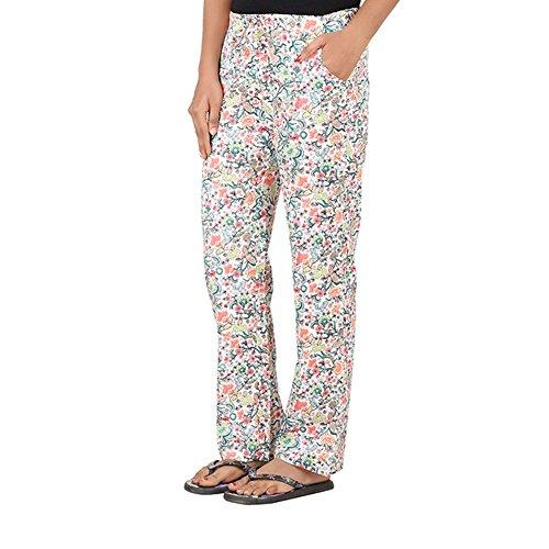 antshrike Mujer Tejido de algodón pantalones pijama ropa de dormir–Rosa