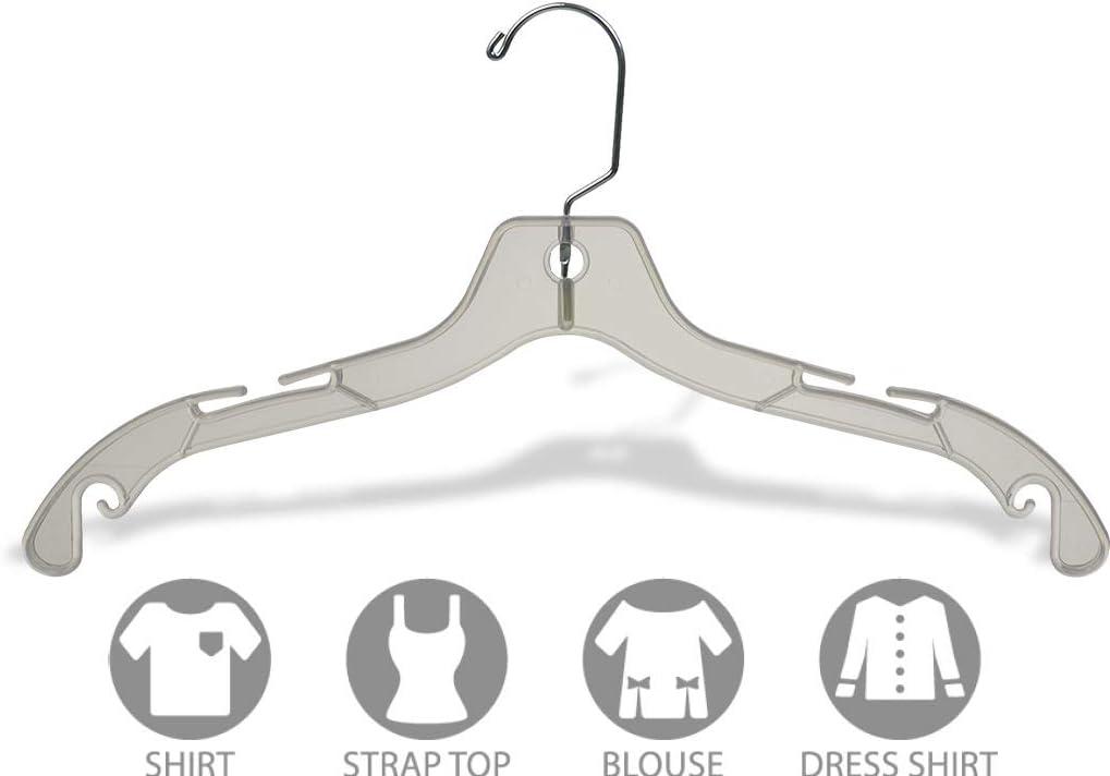 """New Clear Plastic Dress Hanger 17/"""" box 100 pcs"""