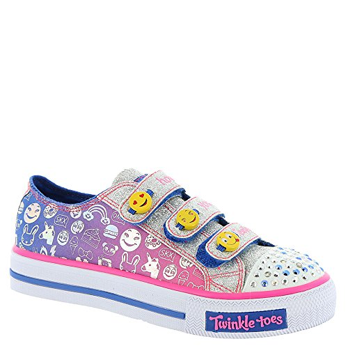 Skechers Big Kid (8-12 Years) Twinkle Toes: Chit Chat-Prolifics Blue-pink Light-Up Sneaker - 3.5 Big Kid M