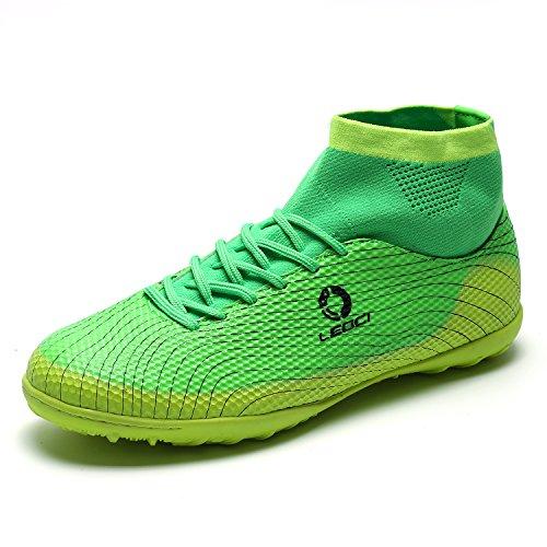occer Cleats Football Boots Indoor Outdoor Shoes Birthday Gifts Men Women Kids Green 36 ()