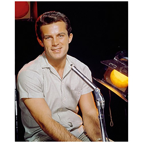 Robert Conrad 8 inch x 10 inch Photograph Black Sheep Squadron Jingle All the Way Centennial Seated at Microphone kn (Sheep Seated)
