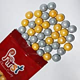 FirstChoiceCandy Shimmer Silver & Gold 1 Inch Gumballs 1 Pound Bag