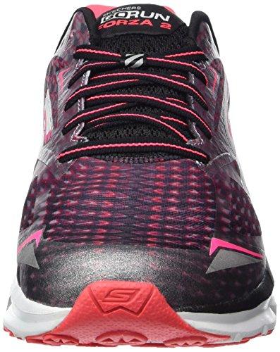 Skechers Go Run Forza 2023, Zapatillas de Deporte Exterior para Mujer Negro (Bkhp)