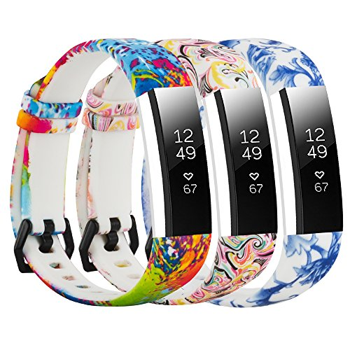 Baaletc Cute Rubber Replacement Accessory Watch Band/Wristband Bracelet Strap with Stainless Steel Buckle for Fitbit Alta, Fitbit Alta HR Fitness Trackers, One Size