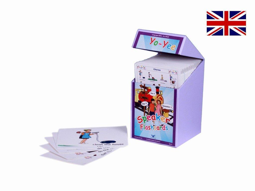 English Speaker Flash Cards Kit to Teach Pre-Intermediate Level Students