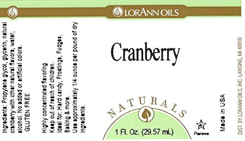 LorAnn Natural Cranberry Flavoring, 4 Ounce