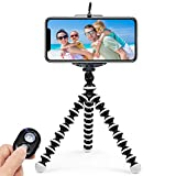 Photo : ARNIL iPhone Tripod, Tripod for iPhone Portable and Adjustable Phone Tripod Stand Holder for iPhone, Cellphone, Camera with Universal Clip and Remote Shutter