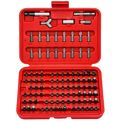 Neiko 10048A Premium Security Bit Set, Chrome Vanadium Steel | 100-Piece Kit