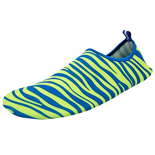 Printed Yoga Barefoot Aqua Shoes,Wingbind Swim Water Shoes Beach Ocean Shoes Diving Surfing Aqua Socks Pool Boating Skin Shoes for Women Men green