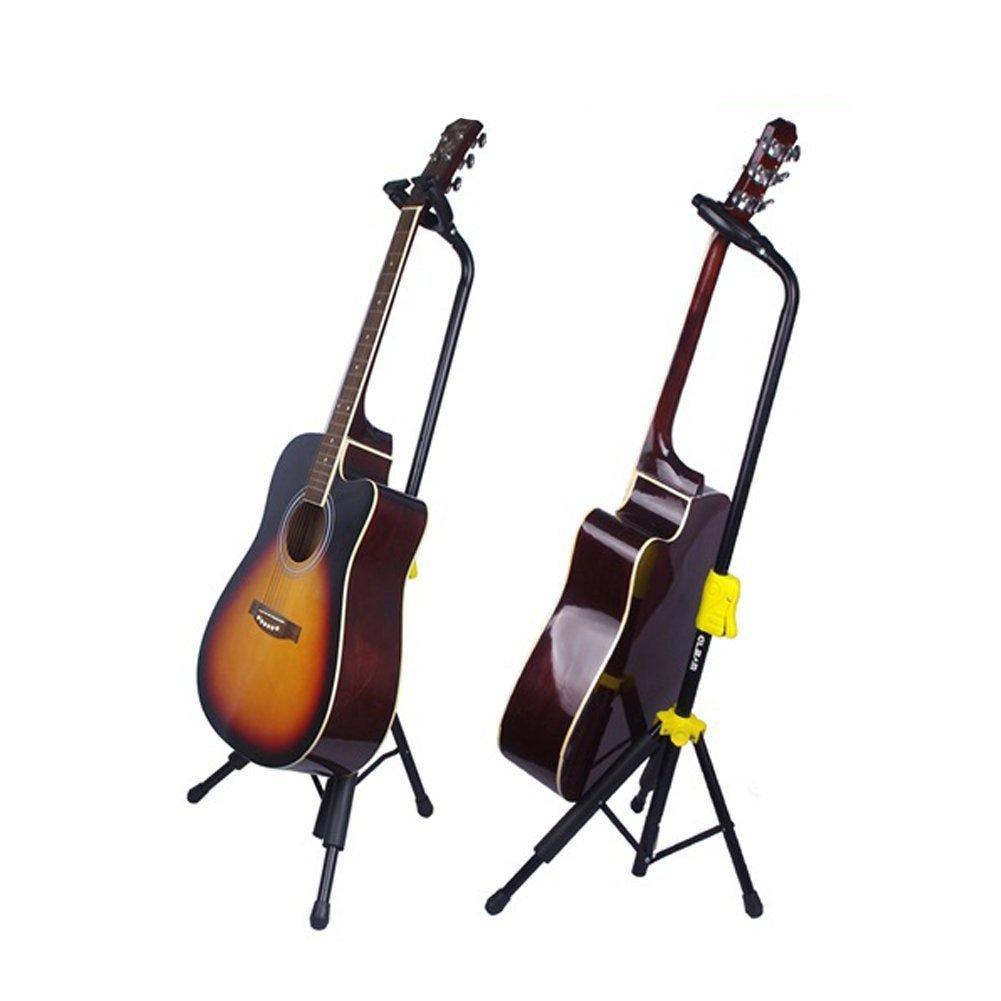 DoubleBlack Soporte Guitarra Electrica/Española/Acustica Pie Guitarra Portatil Plegable Atril: Amazon.es: Instrumentos musicales
