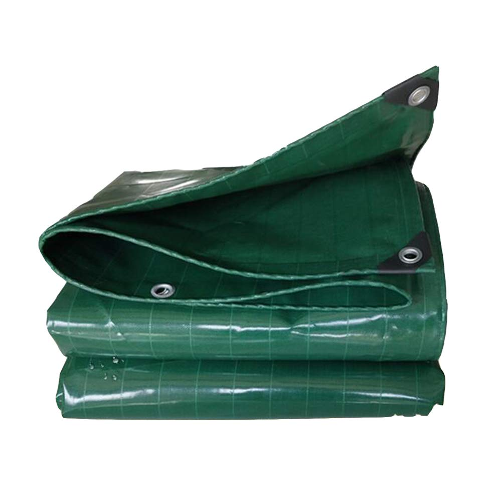 DALL ターポリン タープ アウトドア 厚い 防水布 日焼け止め サンキャノピー 絶縁 520g /m² (色 : 緑, サイズ さいず : 3×5m) 3×5m 緑 B07L49GQVQ