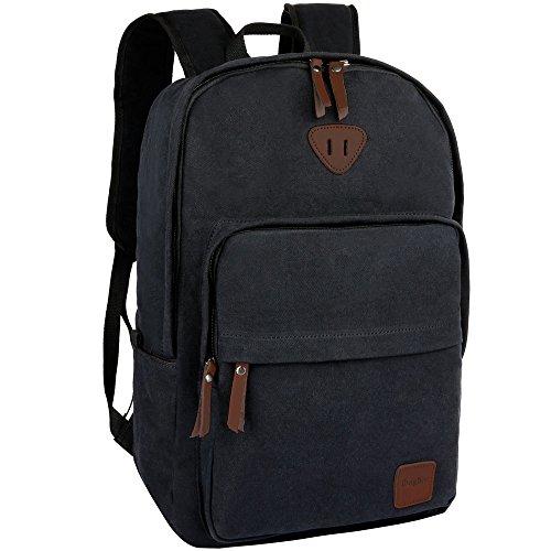 Ibagbar Vintage Canvas Backpack Rucksack Laptop Bag Computer Daypack Travel College Book School Gym Sports Hiking Camping