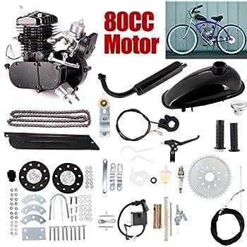 ExGizmo 80cc 2-Stroke Bicycle Gasoline Engine Motor Kit DIY Motorized Bike Single Cylinder Air-cooled