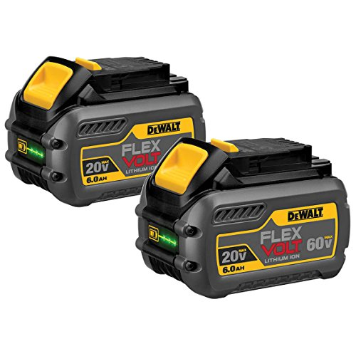 DEWALT DCB606-2 20V MAX 6.0Ah Lithium Ion Premium Battery, 2 Pack