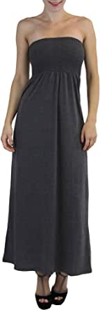 ToBeInStyle Women's Smocked Long Maxi Strapless Dress