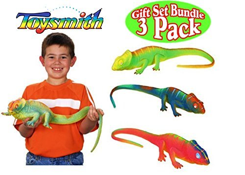Toysmith Ginormous Grow Shark, Crocodile & Lizard Gift Set Bundle - 3 Pack (Assorted Colors)