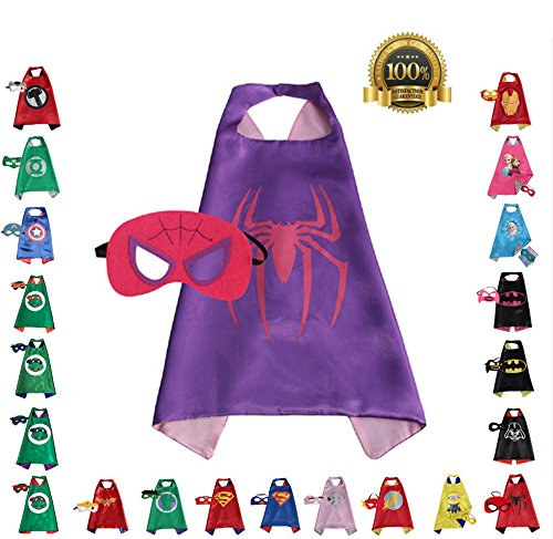 Super hero Cape and Mask, Children, Boys, Girls Dress Up Costume (Superheroes Outfit)