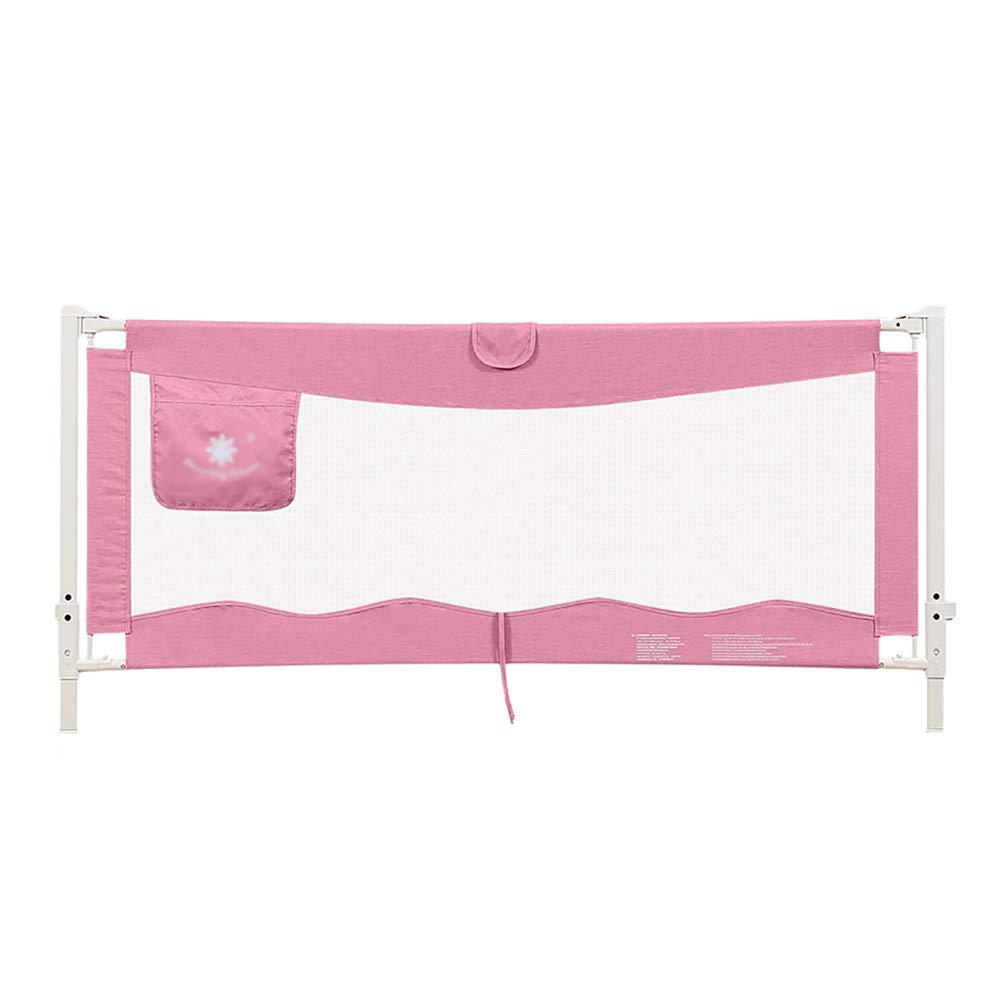 ベッドフェンス- 赤ちゃんロングガードレール幼児アンチ秋ベンドレーン大きなベッドフェンスは、幼児、ワンボタンリフト、長さ150-200cmに適合 (色 : Pink, サイズ さいず : 180cm) 180cm Pink B07J4VRWKG