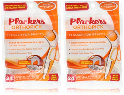 Price comparison product image Plackers Orthopick Flosser for Braces/2pk