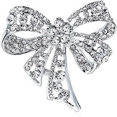 BETOY Bowknot Broche, 2 Piezas Vintage Bowknot Broche Exquisito y Compacto Se USA para Combinar Ropa, Fiestas,Fiestas de cumpleaños, Aniversarios, Bodas, Regalos de San Valentín y del Día de la Madre