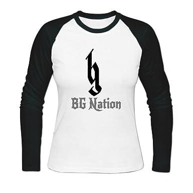 b4baf49e64d ZIYANG Women s Personalized Brantley Gilbert Bg Nation Printed Baseball  Shirt XXL White