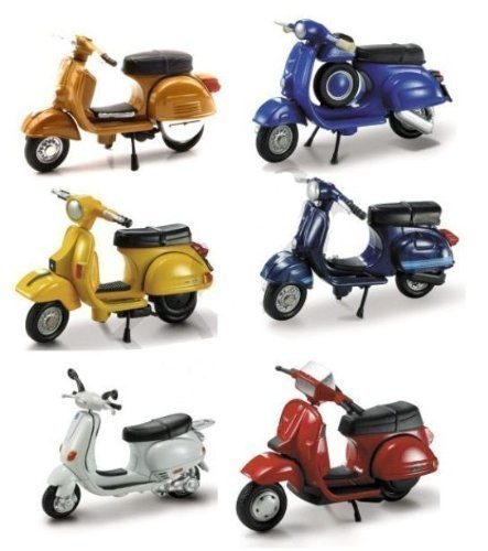 VESPA SCOOTER 6 Piece SET NEW RAY DIECAST ASSORTED MODELS