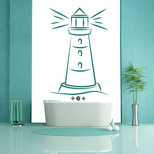 azutura Lighthouse Wall Sticker Seaside Nautical Wall Decal Bathroom Kids Home Decor available in 5 Sizes and 25 Colours X-Large Rose Pink