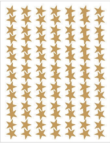 Teacher Created Resources Gold Stars Foil Stickers 1276