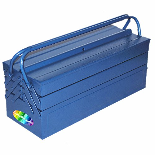 """Heavy Duty 21/"""" 530mm Metal Cantilever 5 Tray Toolbox Storage Tool Box Blue New"""