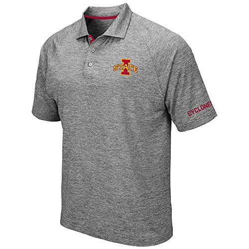(Mens Iowa State Cyclones Raglan Polo Shirt - M)