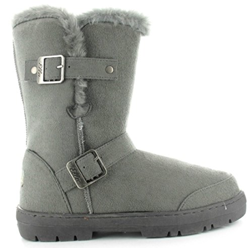 Grey SUEDE NEW BUCKLES ELLA FUR CHESTNUT BOOTS GREY BROWN LADIES VEGAN BLACK 2 ALEX CALF wCFxZ6wq
