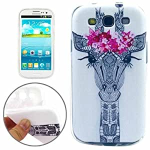 Abstract Flower Pattern TPU Protective Case for Samsung Galaxy SIII / i9300